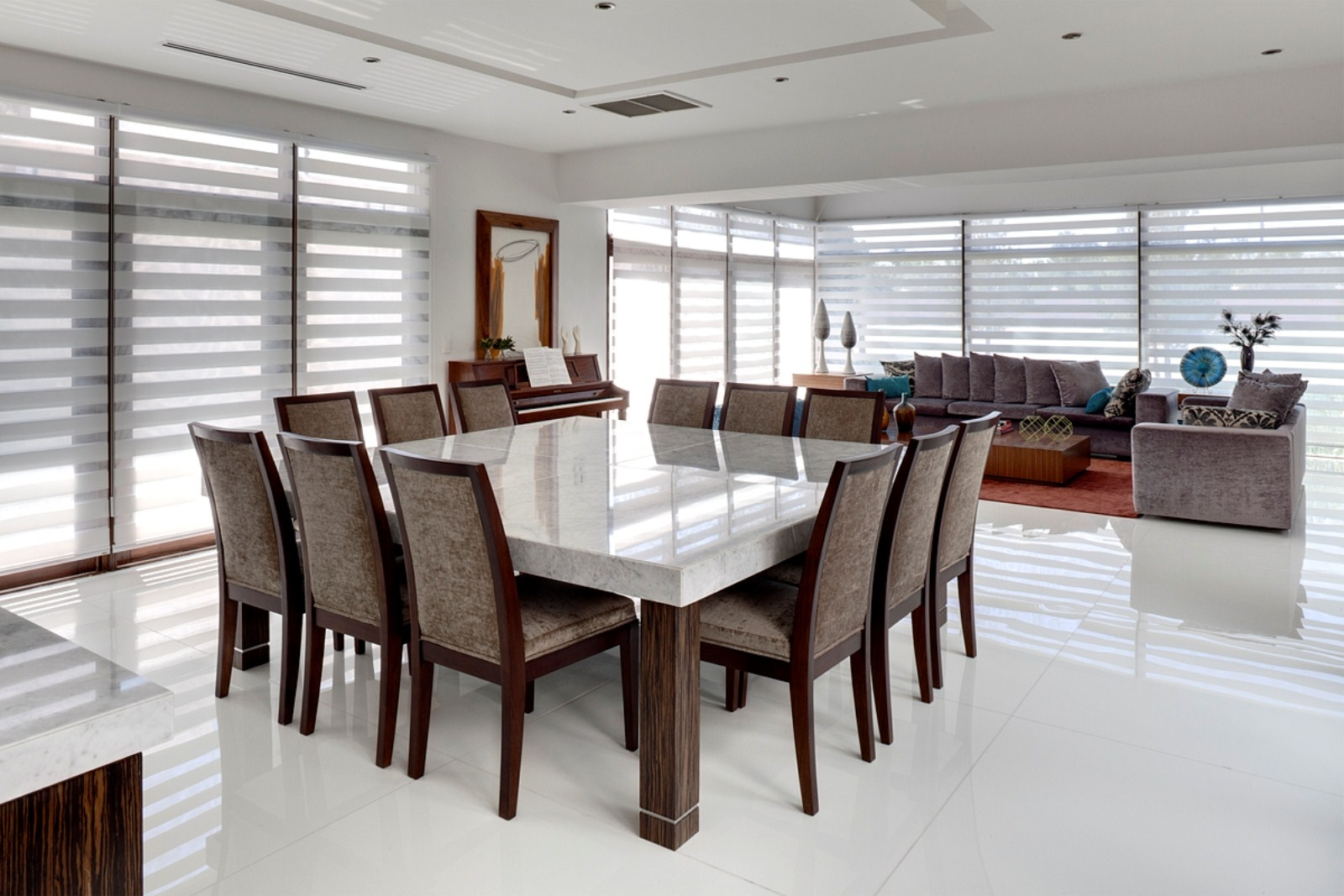 square dining table seats 12 photo - 4