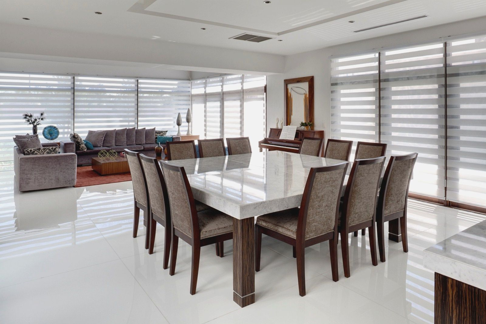 square dining table seats 12 photo - 8