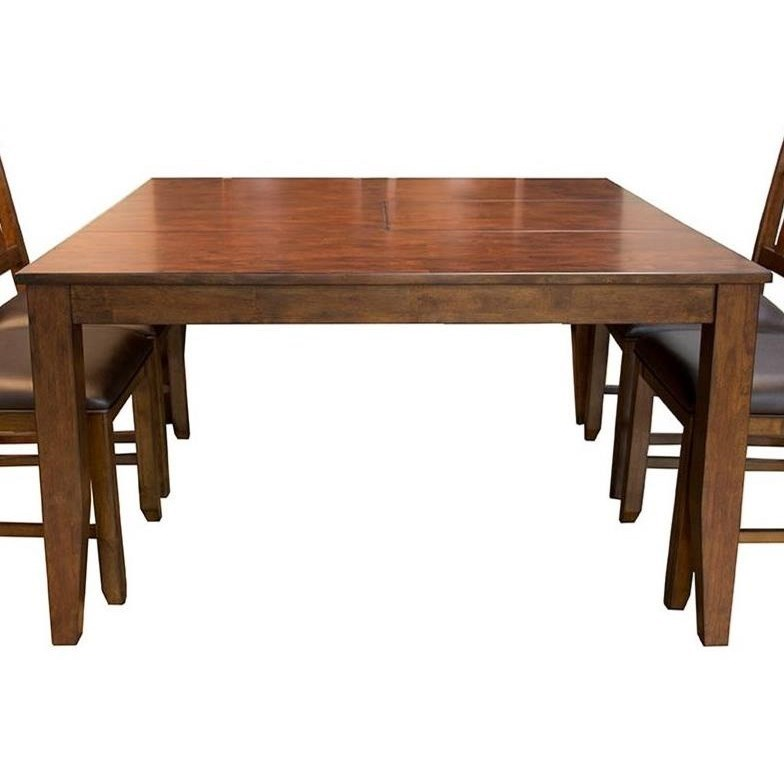 square dining table with leaves photo - 3