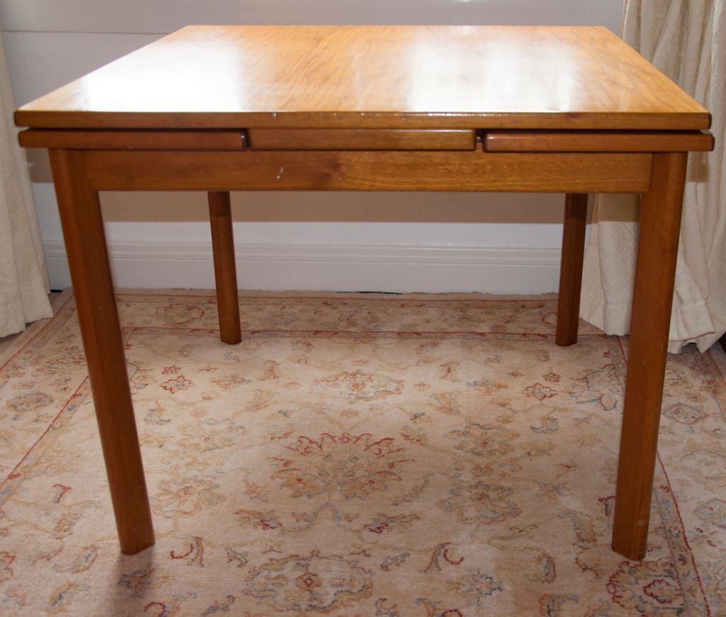 square dining table with leaves photo - 5