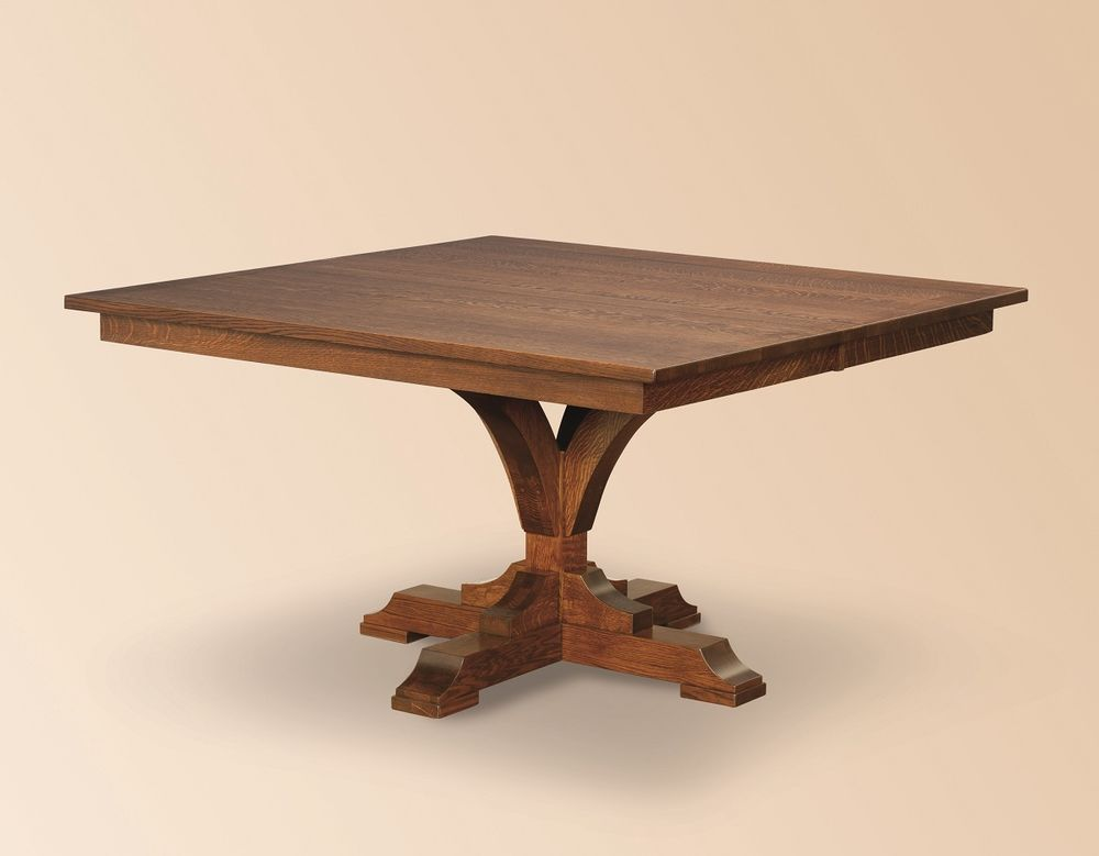 square dining table with leaves photo - 6