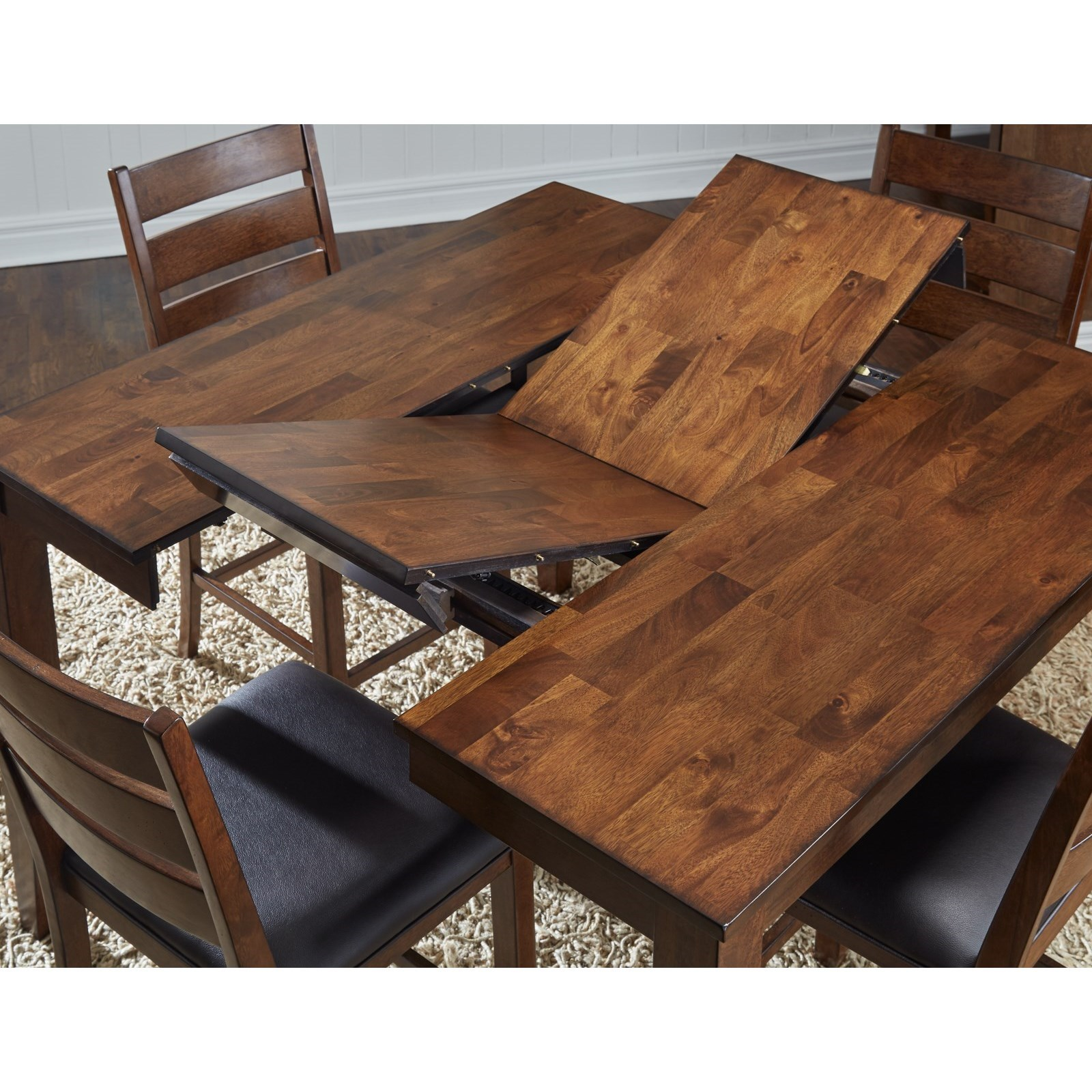 square dining table with leaves photo - 8