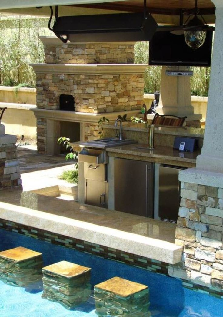 swimming pool designs with bar photo - 5