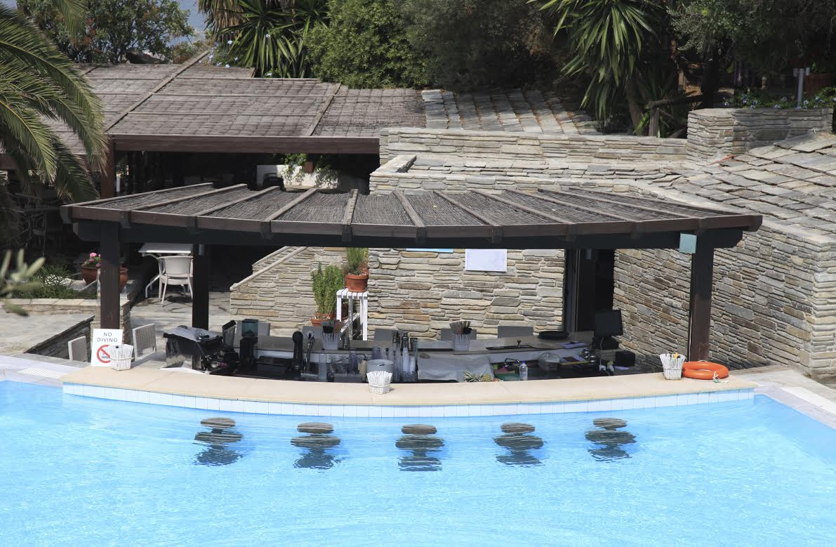 swimming pool designs with bar photo - 9