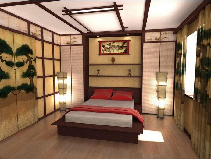 traditional asian bedroom furniture photo - 1