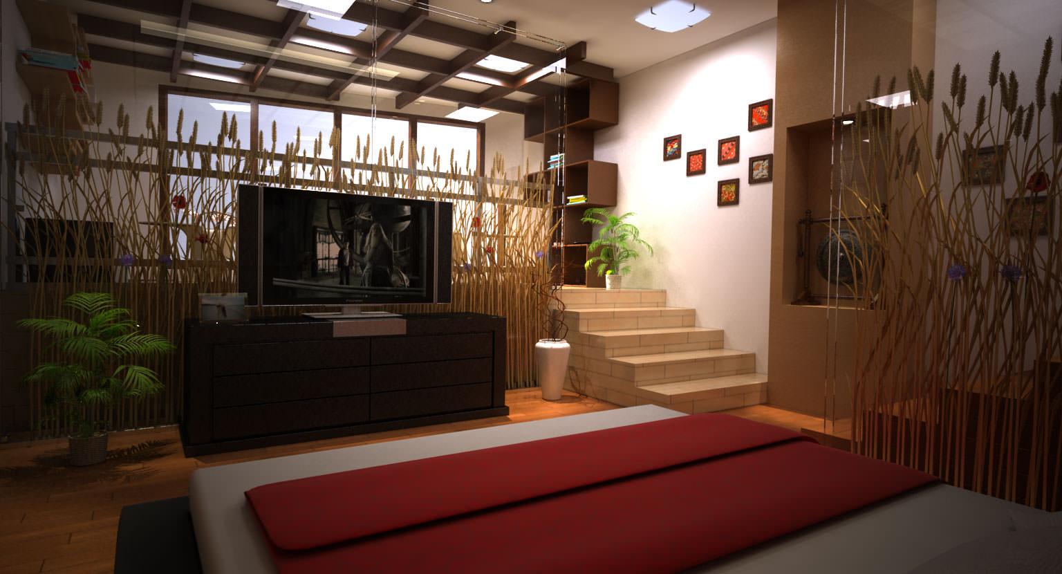 traditional asian bedroom furniture photo - 7