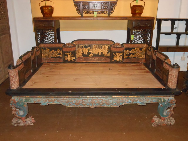 traditional asian bedroom furniture photo - 8