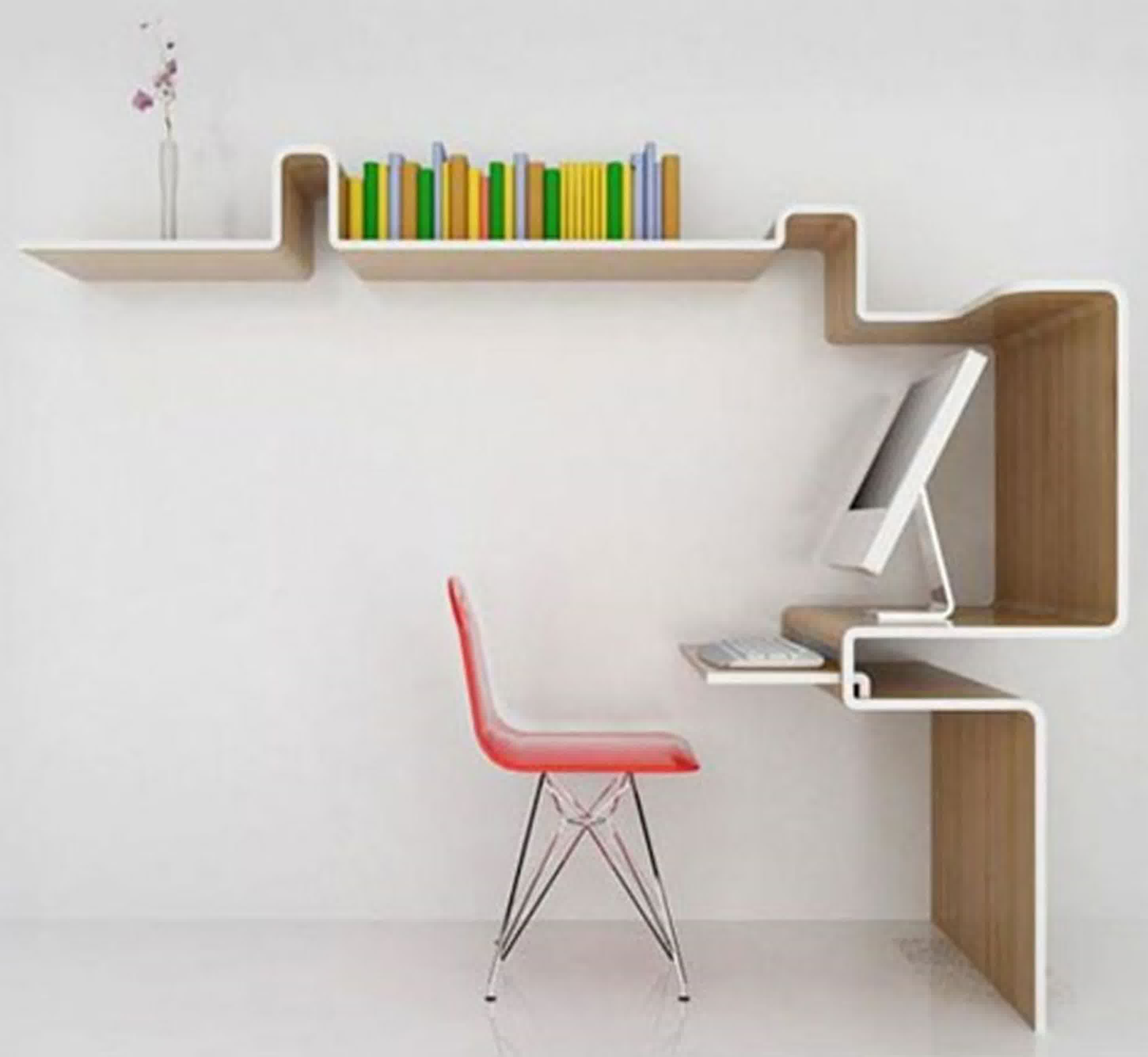 wall mounted desk accessories photo - 2