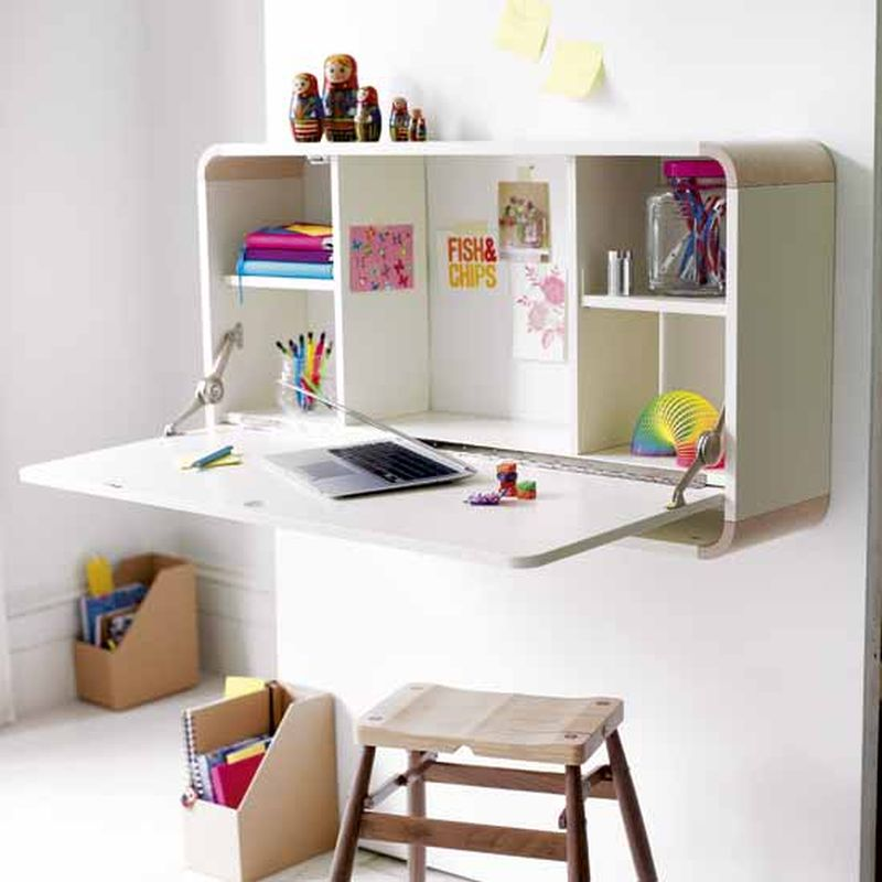 wall mounted desks for kids photo - 3