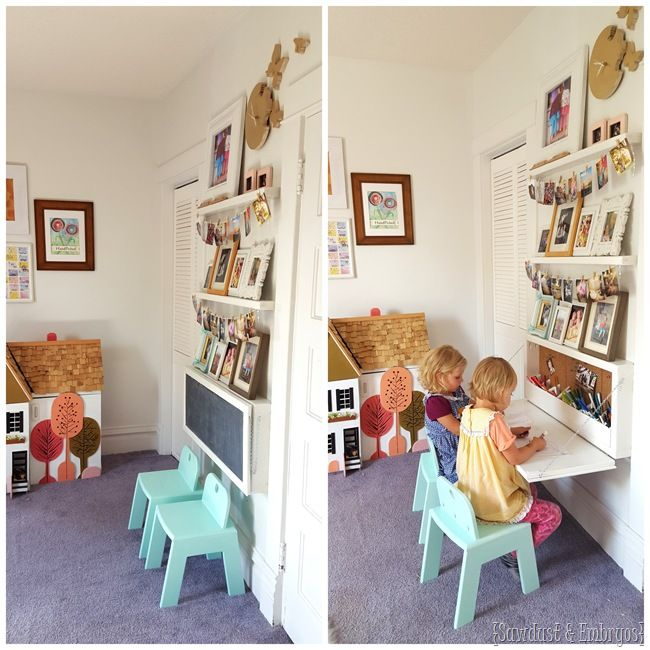 wall mounted desks for kids photo - 9