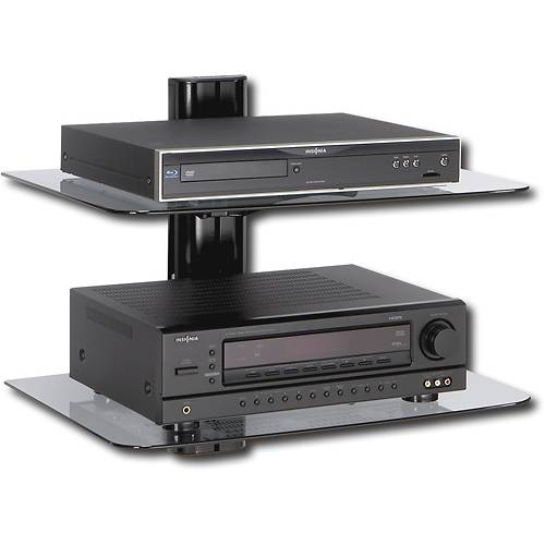 wall mounted shelves for dvd player photo - 10