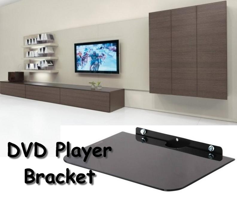 wall mounted shelves for dvd player photo - 2