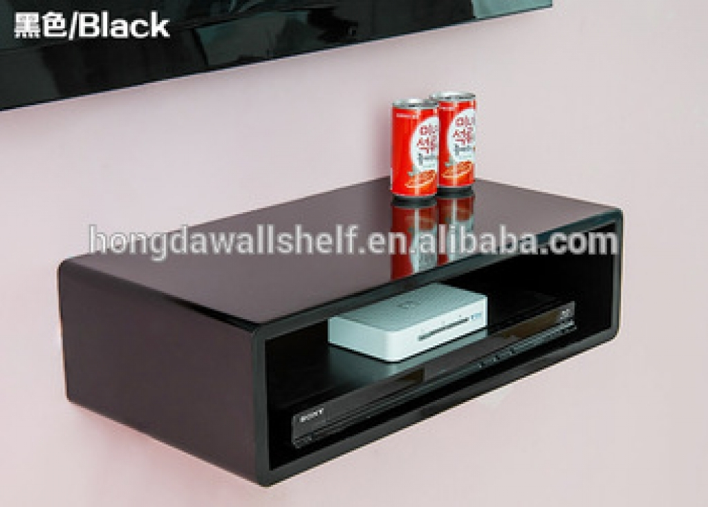 wall mounted shelves for dvd player photo - 8