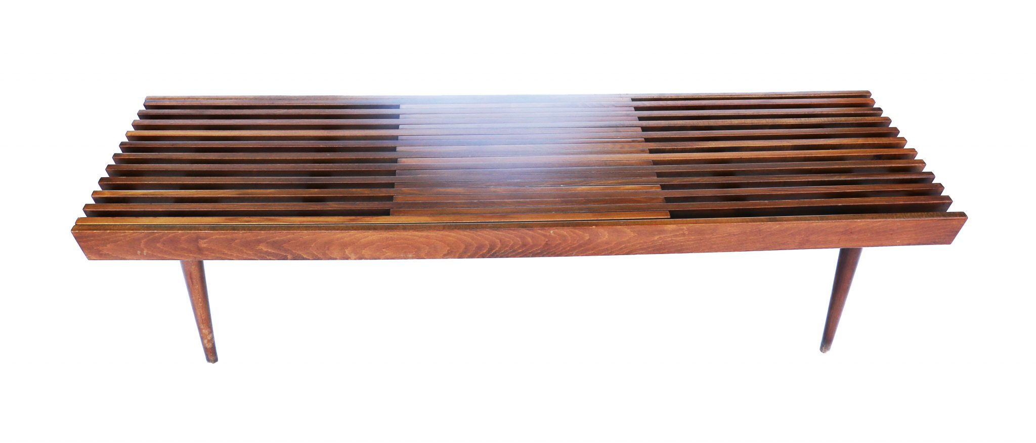 wood coffee table bench photo - 1