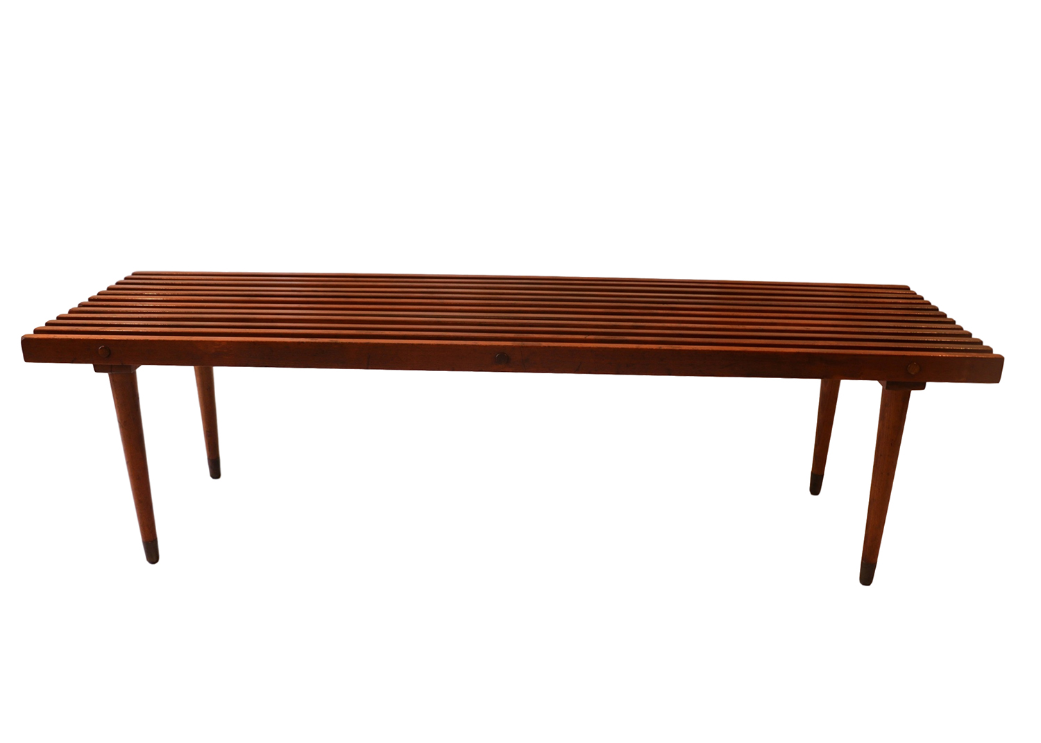 wood coffee table bench photo - 5