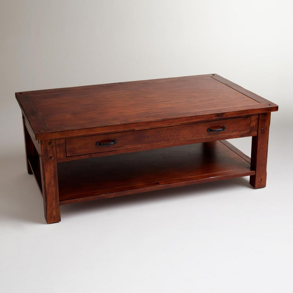 wood coffee table bench photo - 7