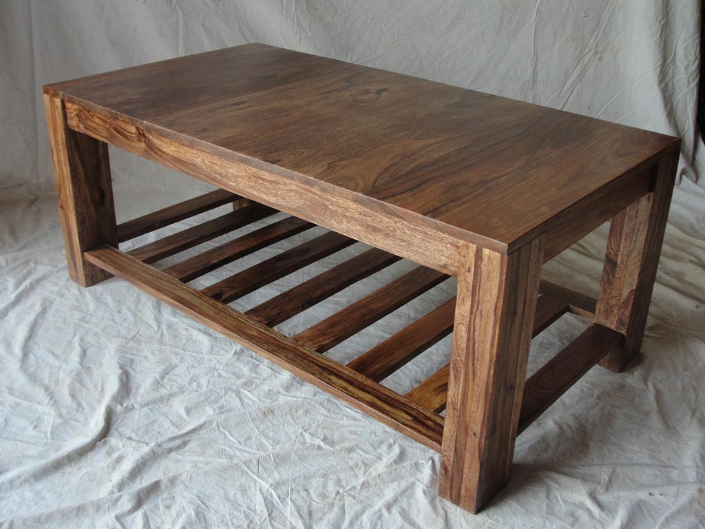 wooden coffee table design plans photo - 1