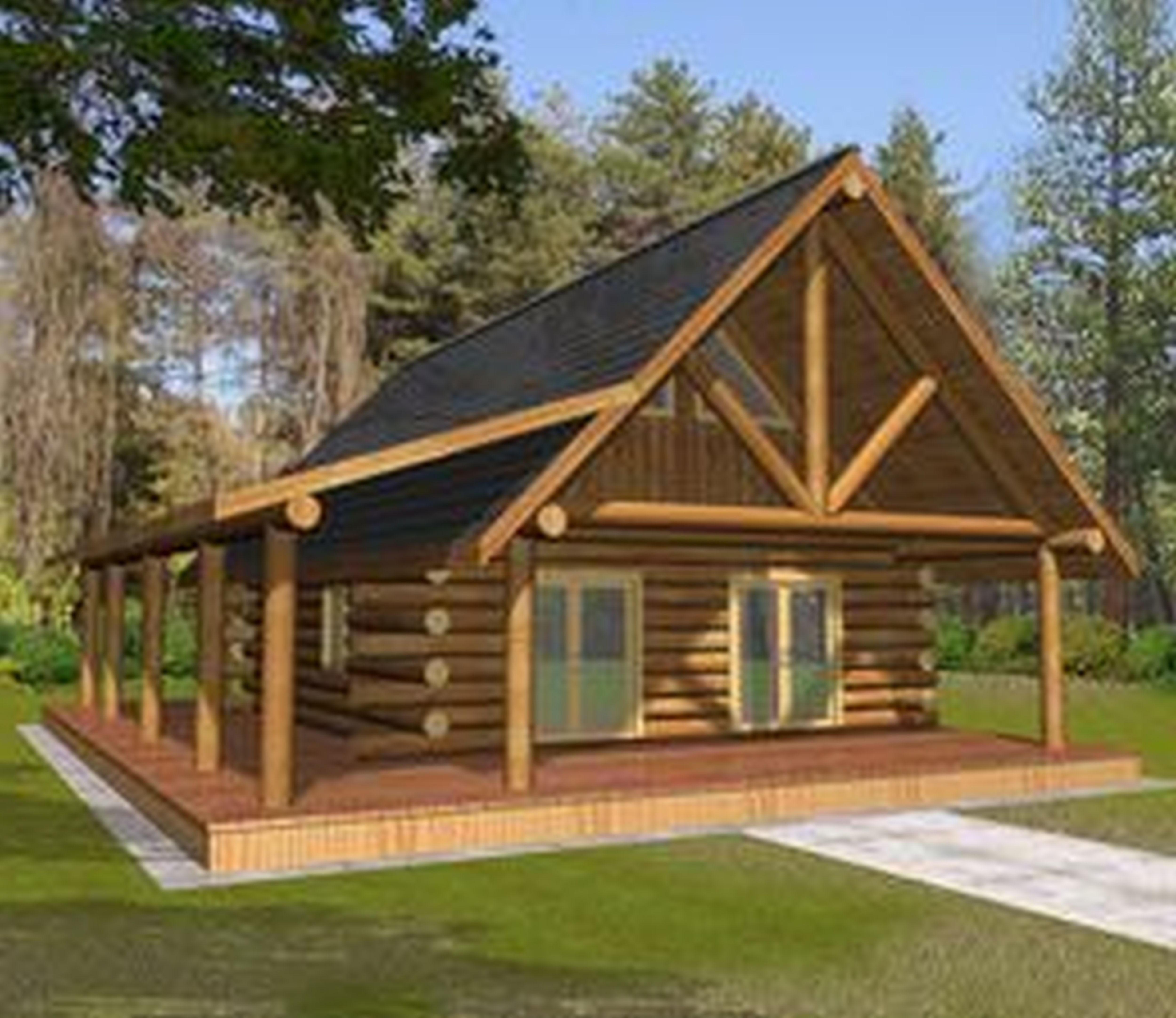 wooden country house plans photo - 2