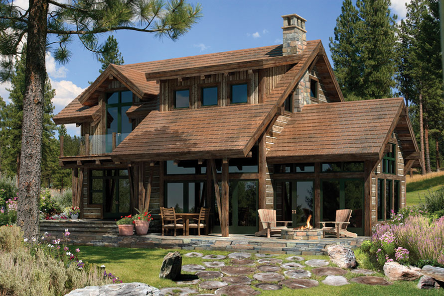 wooden country house plans photo - 9