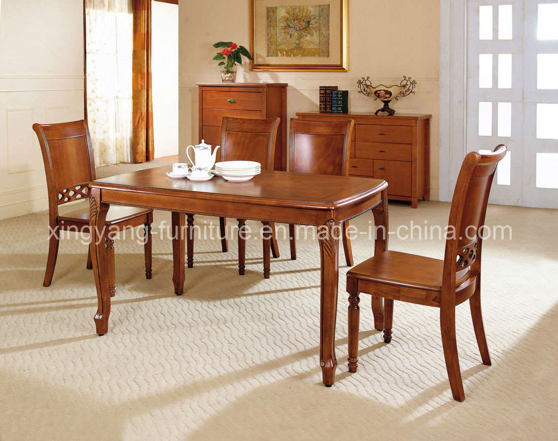 wooden dining tables and chairs photo - 3