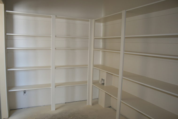 wooden pantry shelving systems photo - 10