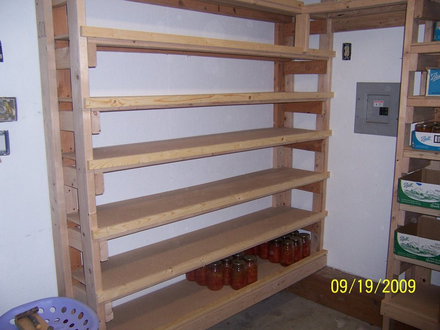 wooden pantry shelving systems photo - 9